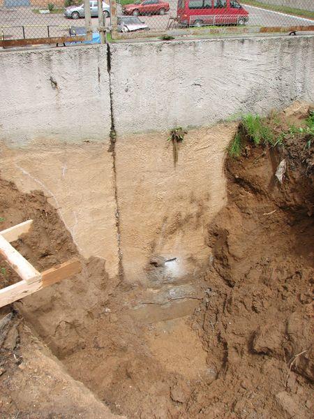 Обследование конструкции подпорной стены