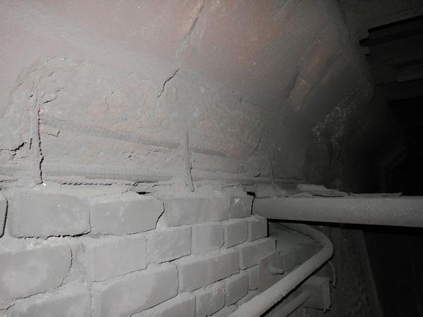 обследование ригелей, разрушение бетона